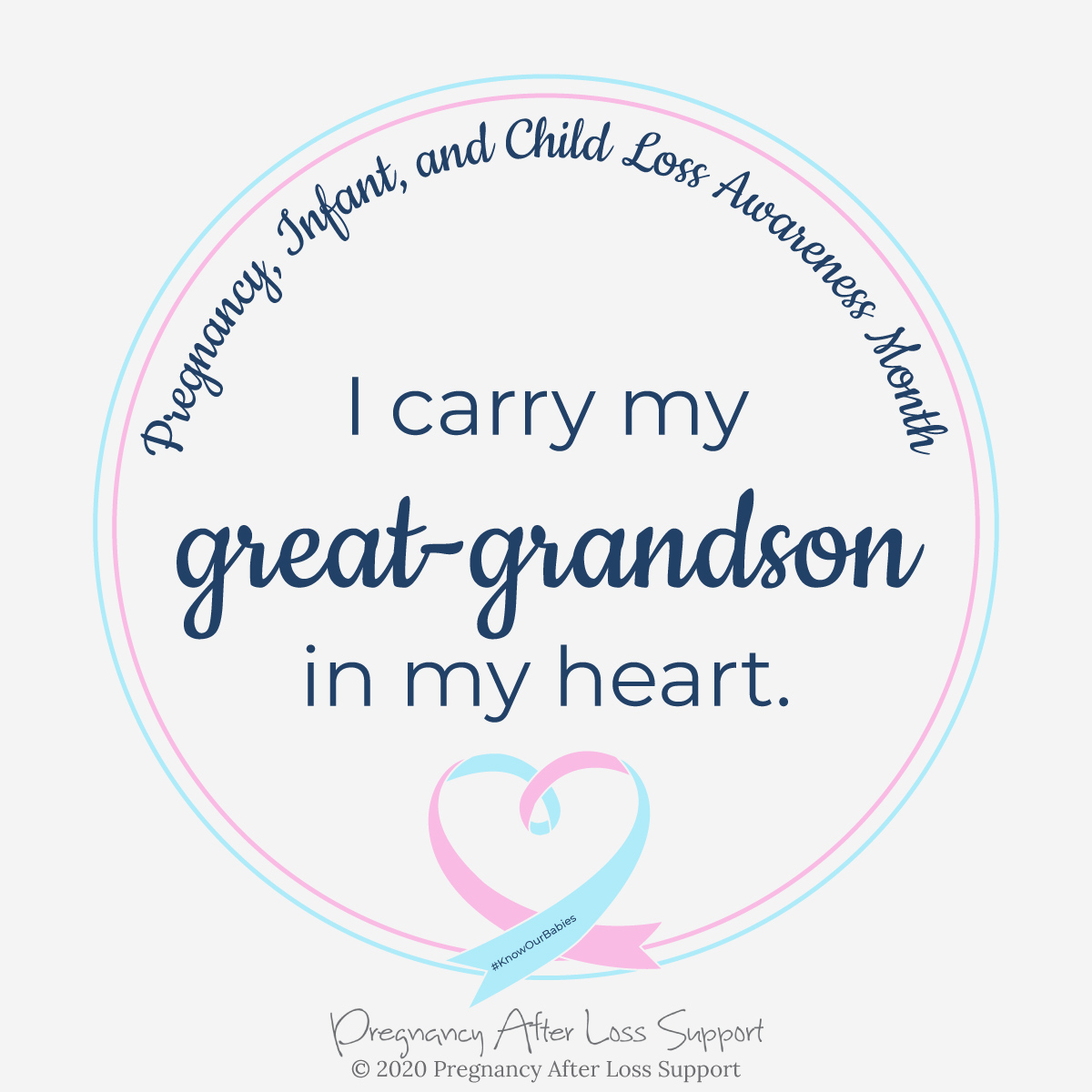 I carry my great-grandson in my heart - Pregnancy, Infant, and Child Loss Awareness Month