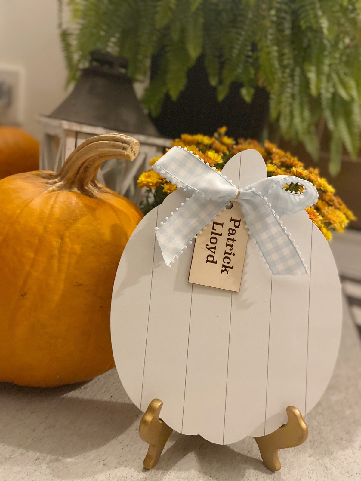 Patrick's pumpkin - The White Pumpkin for Baby Who Died