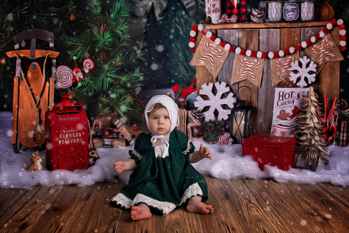 Toddler girl Christmas photo - The Holidays Draw Closer