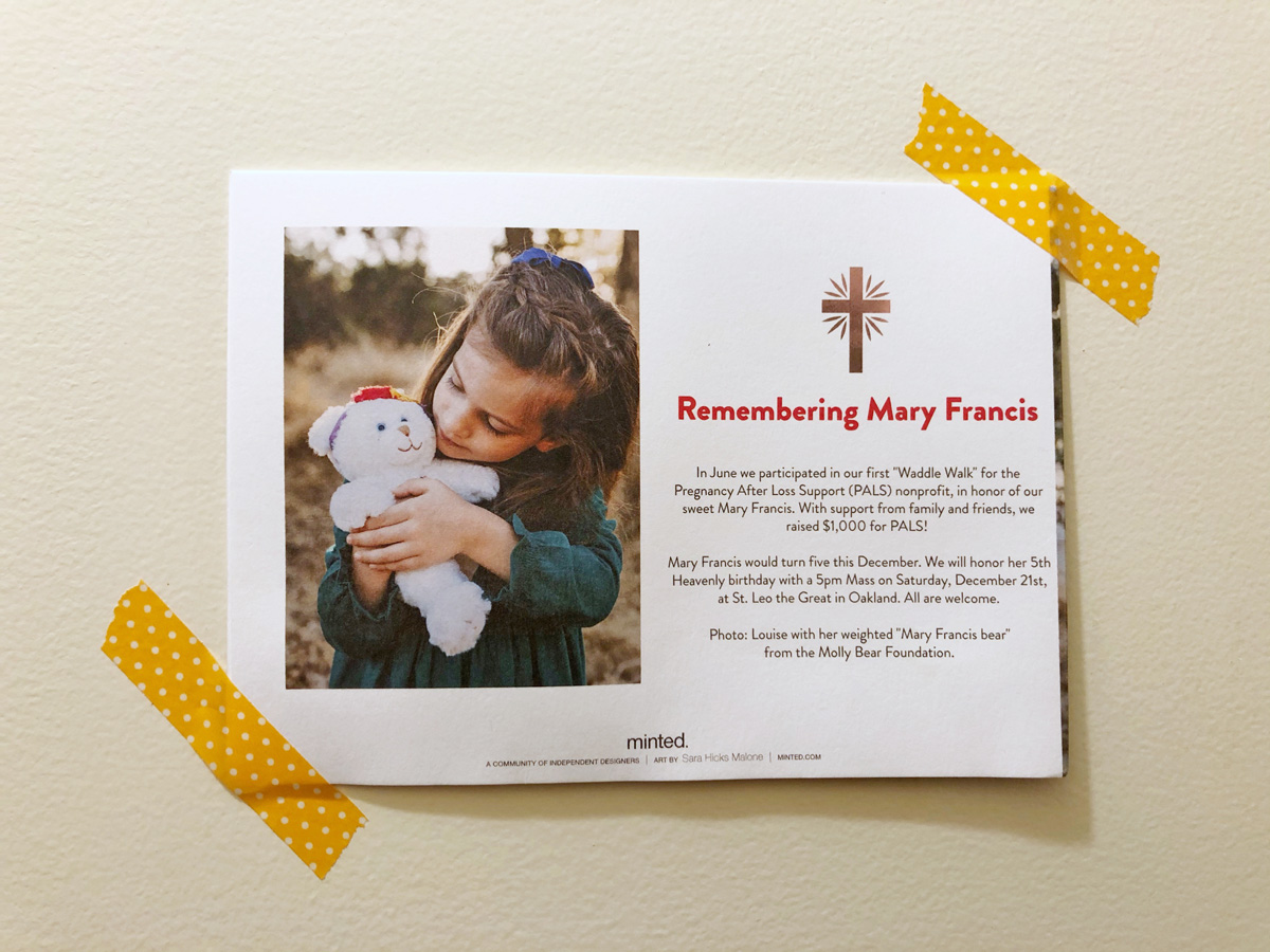 Ways to remember a baby who died on your holiday cards after loss
