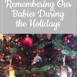 Christmas ornaments on tree - Remember our babies during the holidays