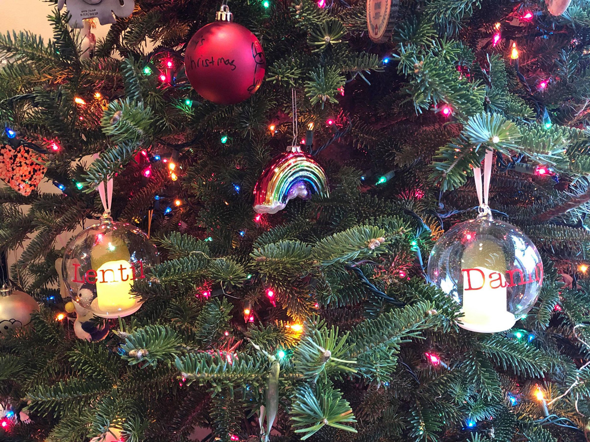 Christmas ornaments on tree - Remembering our babies during the holidays