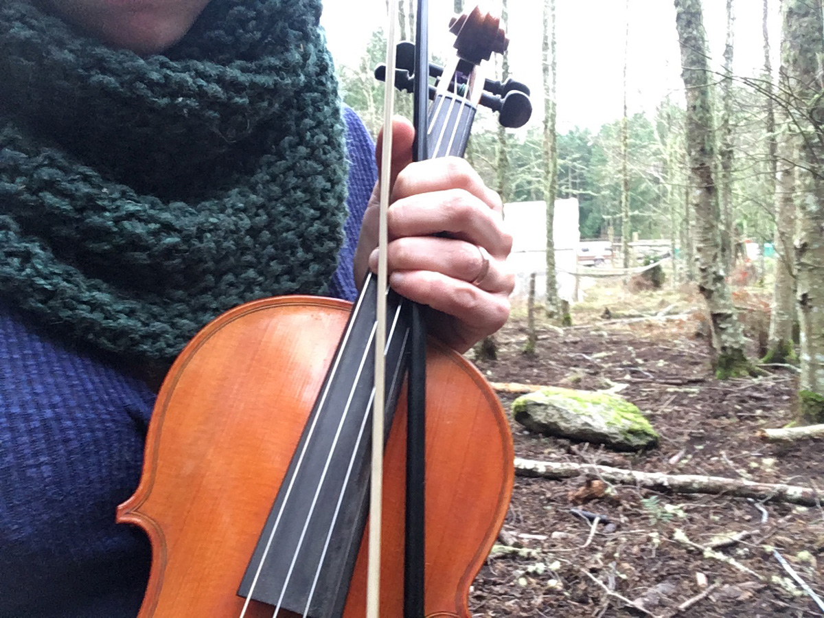 Libby with her violin - Bump Day Blog, Week 22: Musical Healing