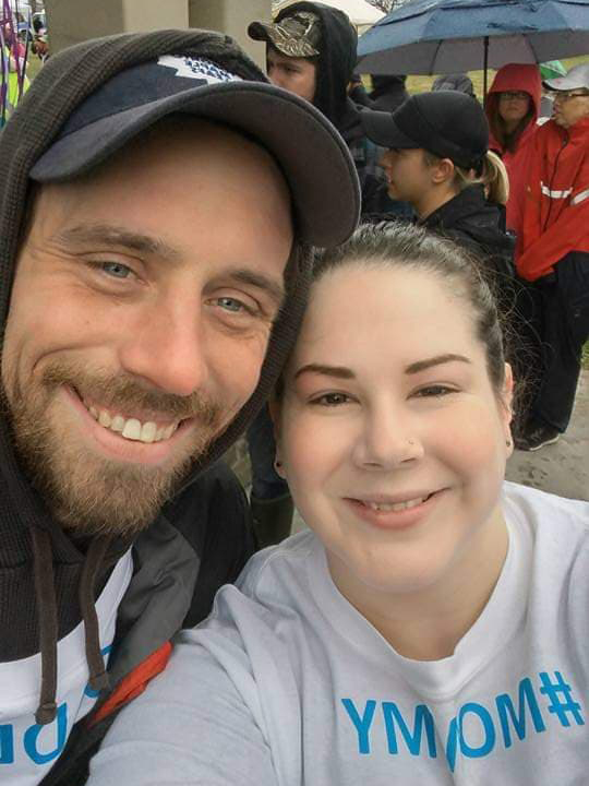 "couple at remembrance walk - Mary's Bump Day Blog, Week 28: The Word ""Strength"""