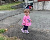 Toddler walking outside - Moving After Loss