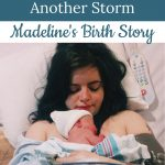 mom and newborn - Madeline's birth story