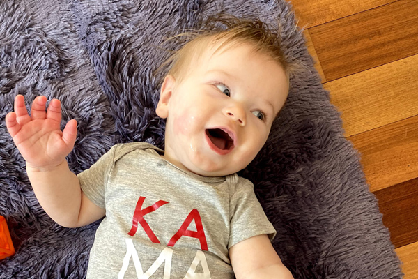 "baby laughing - Parenting After Loss: ""I can't complain"