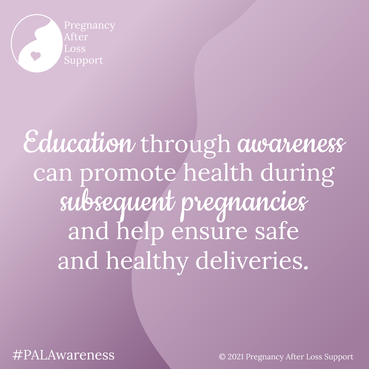 Education through awareness can promote health during subsequent pregnancies