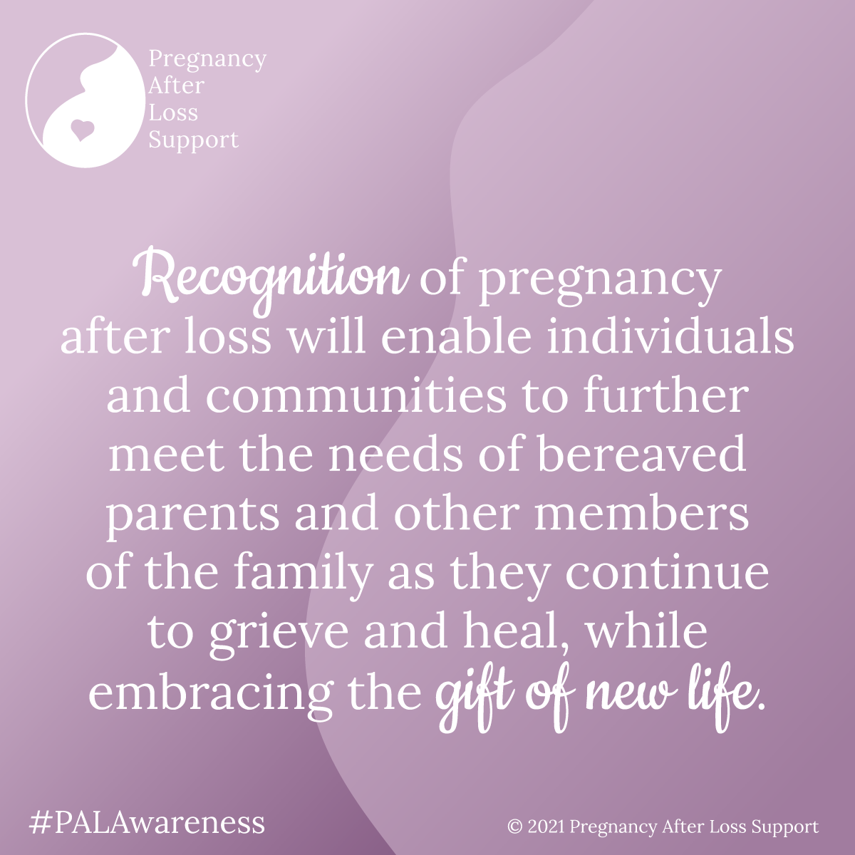Recognition of pregnancy after loss will enable individuals and communities to further meet the needs of bereaved parents