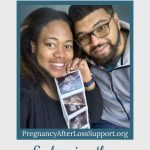 couple with ultrasound images - embracing the pregnancy glow