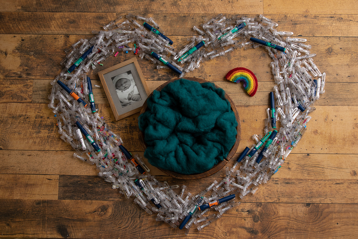 heart made from needles - Mary's 37-week bump day blog: Delivery Day and Reflection