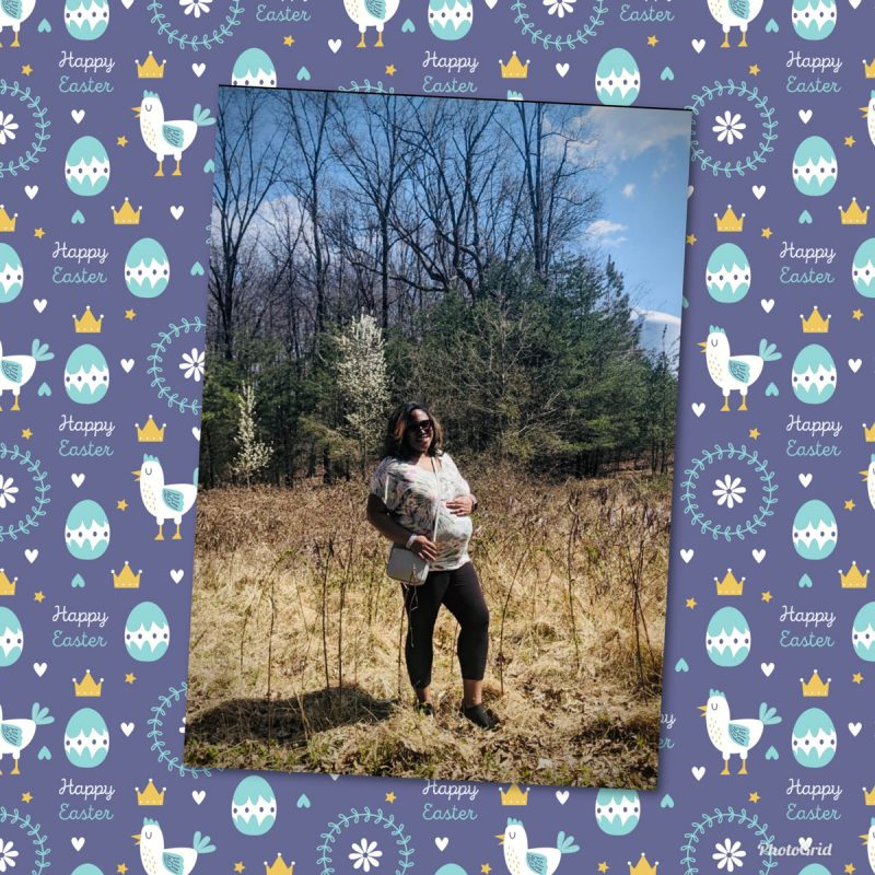 "Jasmine's 22-week bump on Easter - ""Completely Normal"""