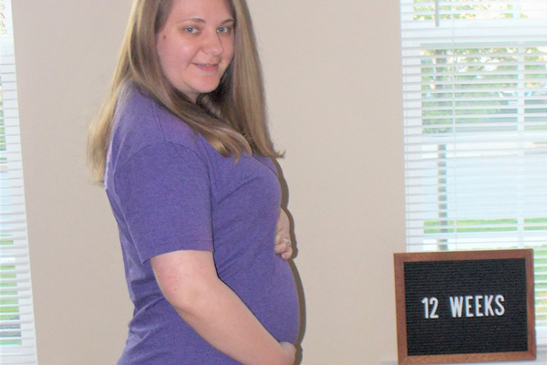 Emma's 12-week bump: reassurance in our provider choice