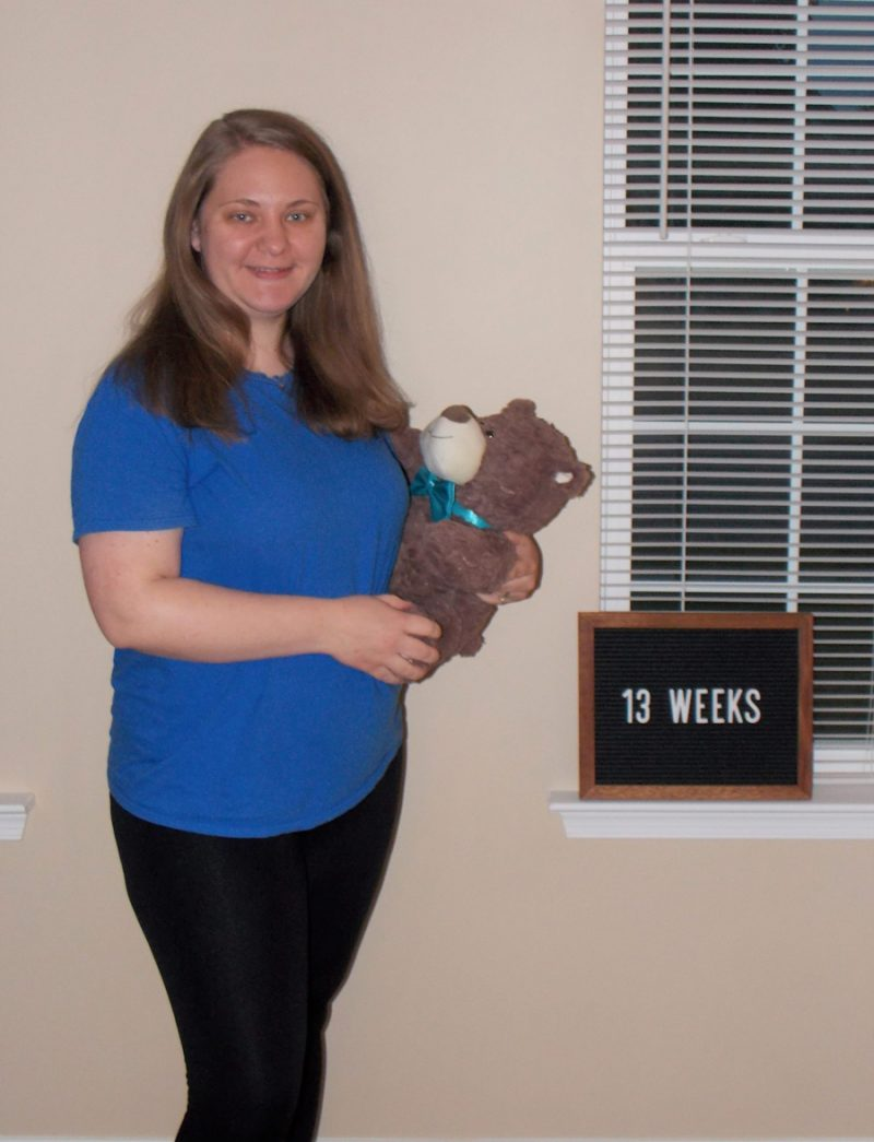 Emma's 13-week bump - My 2nd Mother's Day