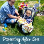 Mom and baby at cemetery - Parenting After Loss: The Bubble Chapter 2