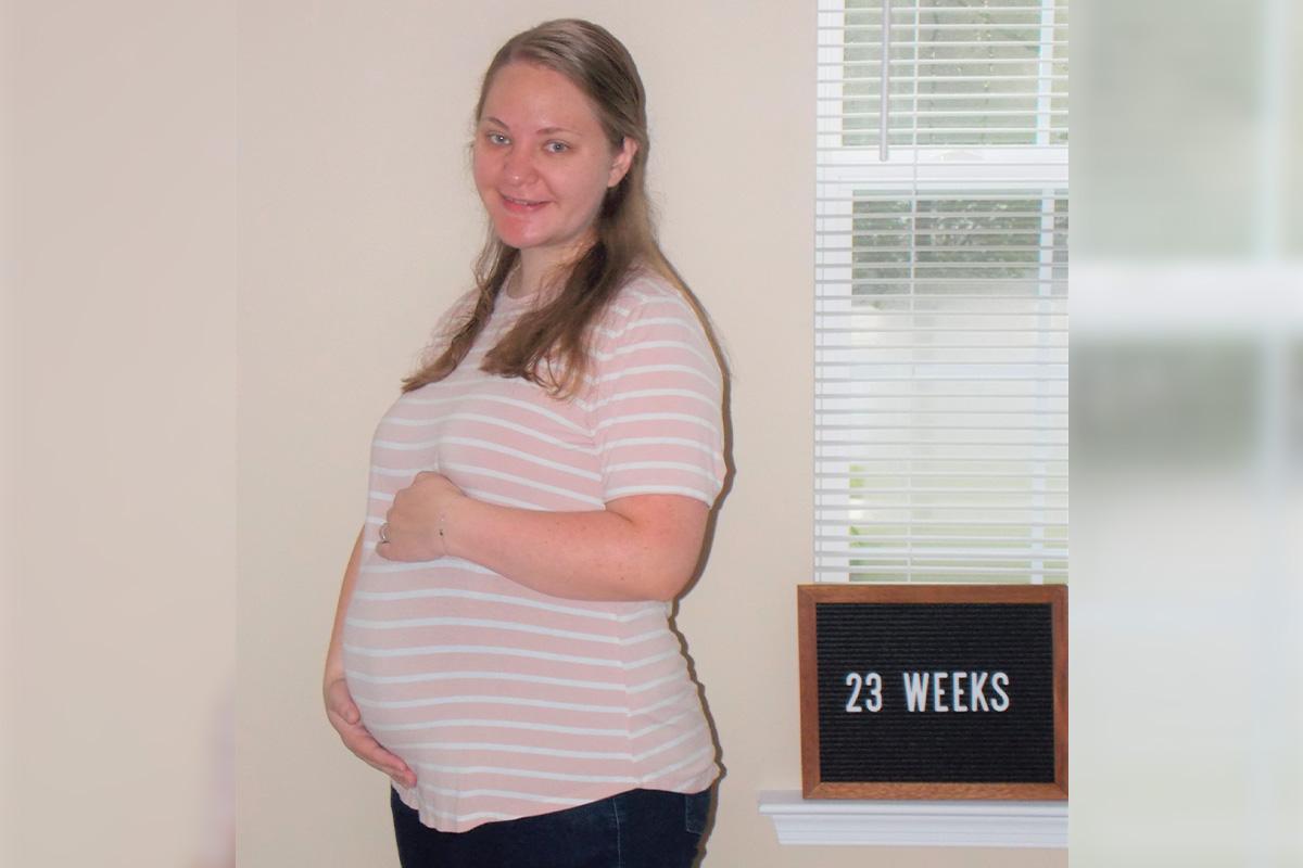 Emma's 23-week bump: Positive Thinking