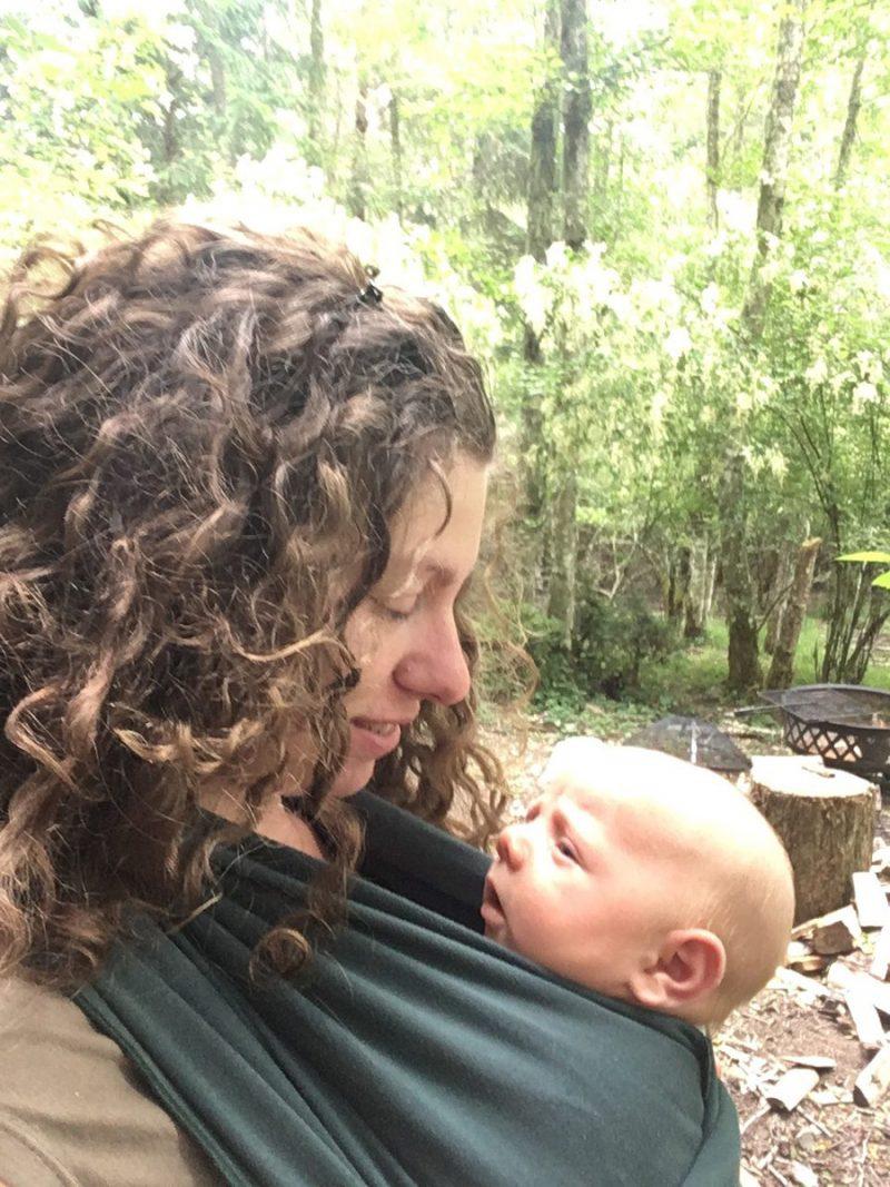 Libby babywearing Eamon John