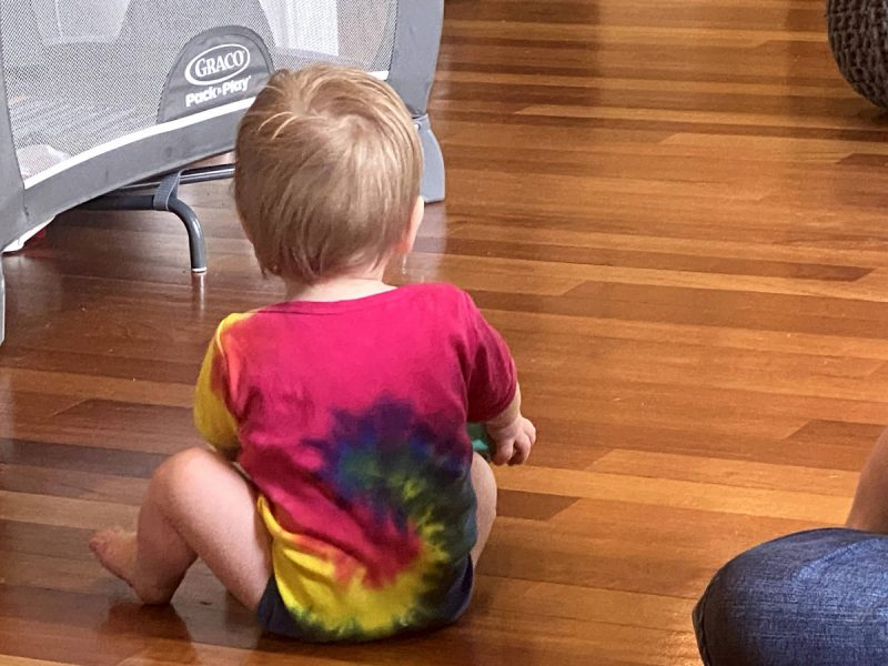Baby in dolphin onesie - Parenting After Loss: One Onesie, Many Emotions
