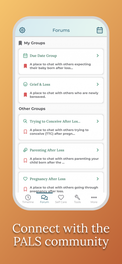 Pregnancy After Loss App - Connect with the community