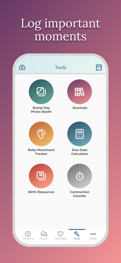 Pregnancy After Loss App - Log important moments
