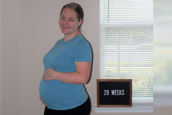 Emma's 29-week bump - Settling In and Finding Peace