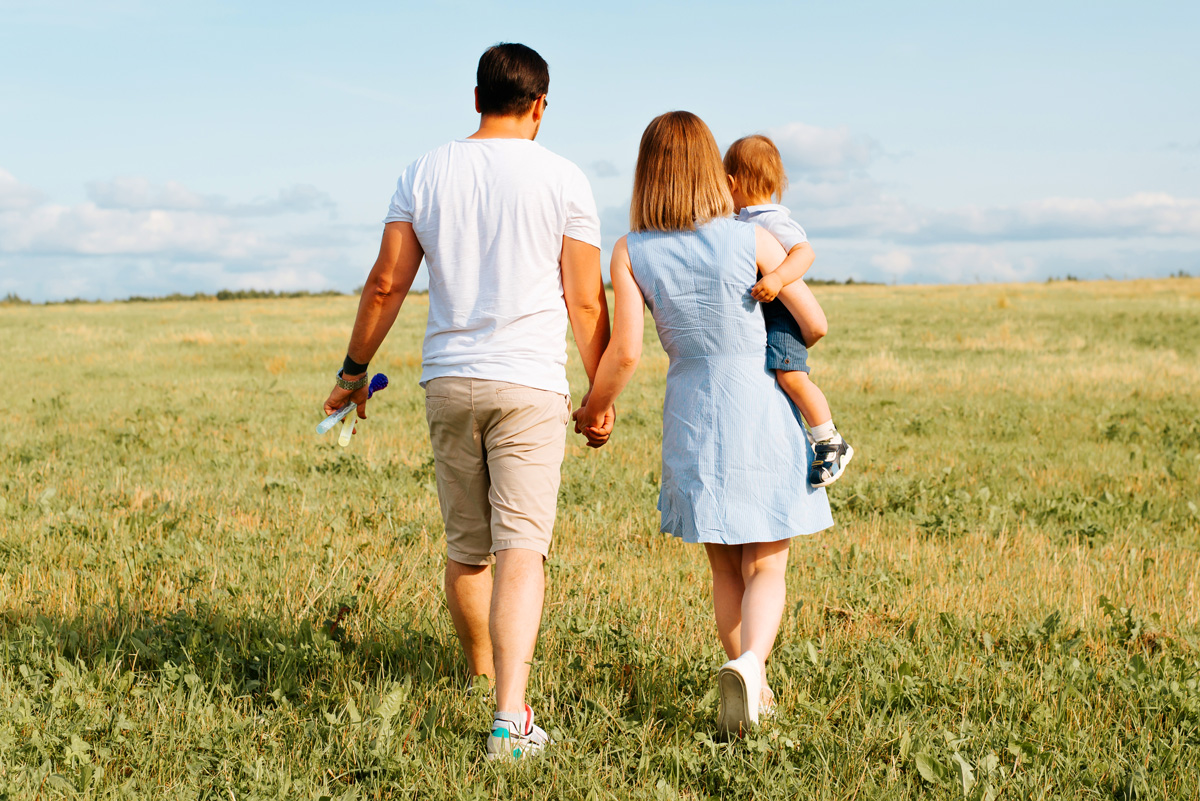 family walking - Parenting After Loss: I Feel Robbed